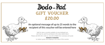 A selection of Gorgeous Gift Vouchers from Lord Dodo