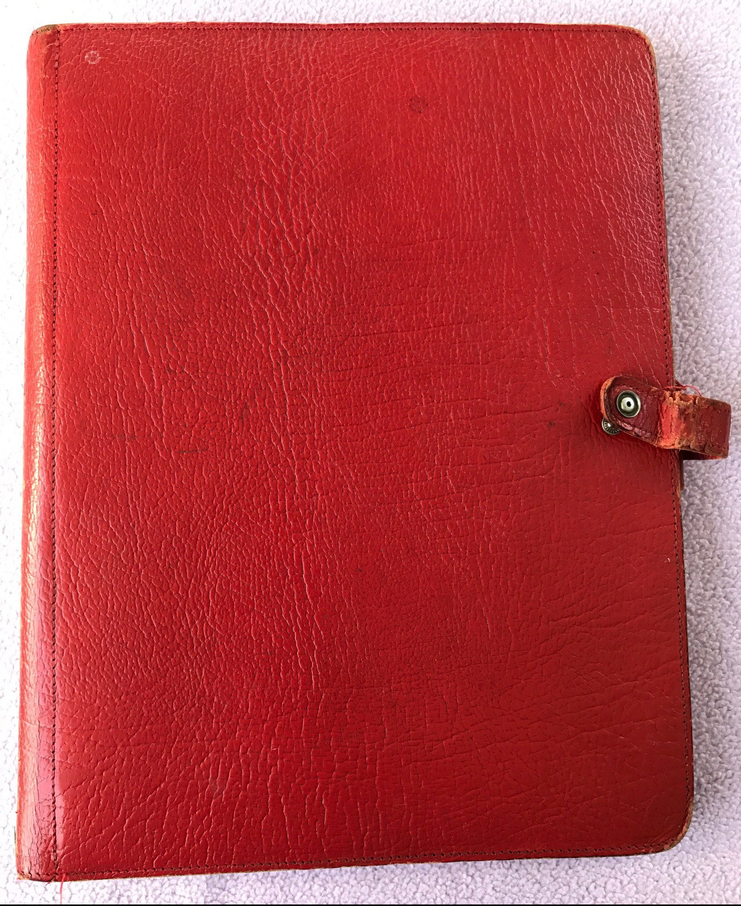 Calf leather Red Deskfax orgniser